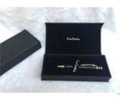 Solid Wood Packaging Pen Gift Boxes Promotional With Black Color Sgs Listed
