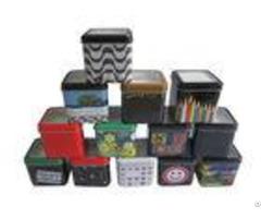 Embossed Stylish Metal Tin Box For Watch Storage Holder Shape Oem