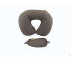 U Shape Blow Up Washable Inflatable Neck Air Travel Pillow With Eyemask