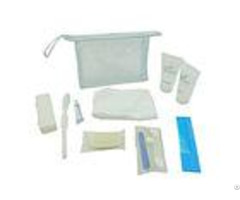 Transparent Business Class Airline Amenity Kits With Towel Dental Kit For Cleaning