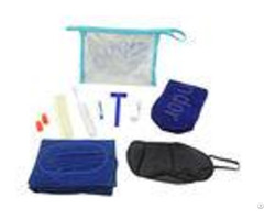 Complete Airplane Travel Amenity Kits Pvc Pouch With Seven Practical Contents