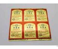 Golden Foil Wine Label Stickers Die Cut Shape Surface Handle Gloss Oil Laminated Printing