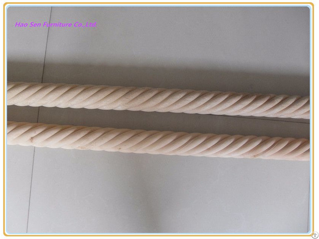 Wooden Twisted Curtain Pole