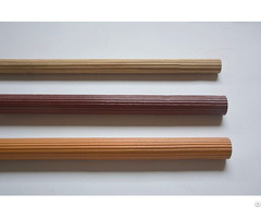 Round Wooden Fluted Curtain Drapery Rod