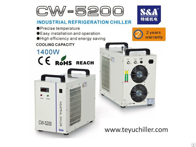 S And A Air Cooled Chiller Cw 5200 For Cnc Vertical Machine Center