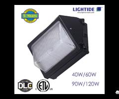 Dlc Premium Semi Cut Off Led Wall Pack Lights Glass Refractor 90w