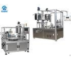 Semi Automatic Cosmetic Filling Equipment For Lip Gloss With Double Tank