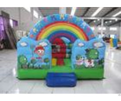 Outdoor Rainbow Farm Kids Inflatable Bounce House 0 55mm Pvc 3 X 2m For Party