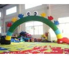 Commercial Inflatable Advertising Signs Arch Smiley Face 8 X 4m For Holiday