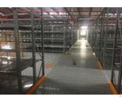 Gray Rack Supported Mezzanine Steel Shelving Systems For Huge Warehouse