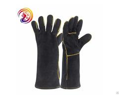Welding Welders Heat Resistant Cow Split Fireplace Leather Gloves