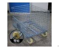 Heavy Duty Galvanized Collapsible Wire Container For Freezers Passed Salt Spray Test