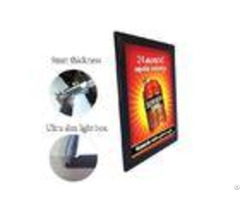 Illuminated Menu Boards Snap Frame Led Light Box 9mm Thickness Backlit Aluminum