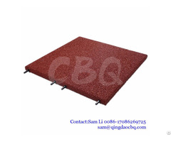 Children Playground Safety Rubber Flooring Mats With Plastic Locking Parts