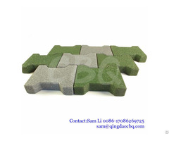 Dog Bone Interlocking Rubber Paver