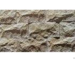 Cement Material Artificial Culture Stone Rustic Brown Color With Elegant Surface