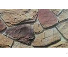 Waterproof Artificial Stacked Stone Multicolor Cement Decorative Wall