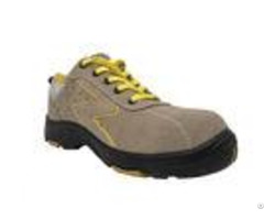 Sandwich Mesh Waterproof Safety Shoes Camel Color Chic Style For Chemical