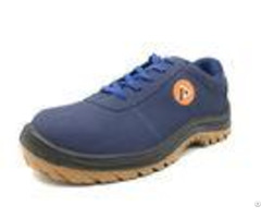 Classic Dark Blue Waterproof Safety Shoes Heat Resistant For Heavy Duty Wear