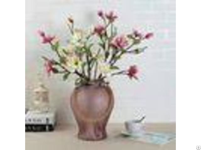 Handmade Home Sand Decorative Glass Vases Indoor Colored With Hemp Rope