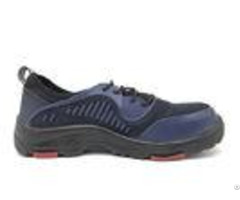 Elastic Band Waterproof Safety Shoes Navy Color Steel Toe Work Boots For Men