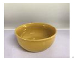 Yellow Ceramic Soup Bowls Stock Tableware Dinner Set 490g Household For Food