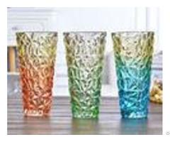 Rose Flower Decorative Glass Vases Machine Press For Friend Restroom Desktop