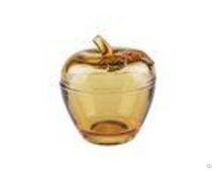 Solid Apple Sugar Glass Candy Jar Bowl Christmas Gift With Machine Pressed