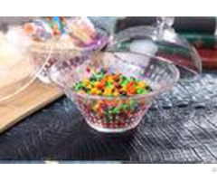 Colored Hight White Glass Sweet Jars For Weddings With Lids Lead Free Leaf