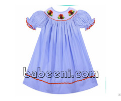 Adorable Turkey Hand Smocked Bishop Dress Bb712