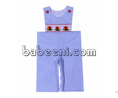 Cute Turkey Hand Smocked Longall For Little Boy Bb713