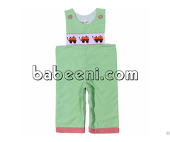 Pumkin Truck Hand Smocked Longall For Boy Bb714