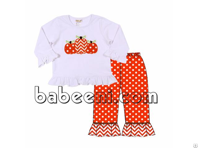 Lovely Pumpkins Applique T Shirt For Girl Bb716