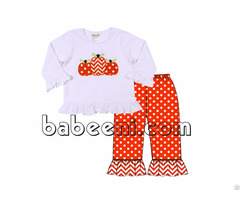 Lovely Pumpkins Applique T Shirt For Girl Bb716