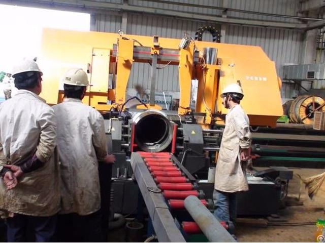 Pipe Prefabrication Band Saw Cutting Machine