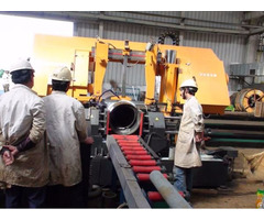 Pipe Prefabrication Band Saw Cutting Machine