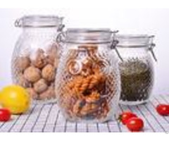 Owl Shape Tea Glass Jar Container Silicon Stainless Steel Lock Transparent