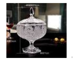 Sunflower Wedding Glass Candy Jar Decorative Sugar Pot Machine Pressed
