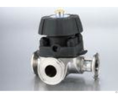 Three Way Manual Diaphragm Valve Tp316l Stainless Steel Material For Beverage