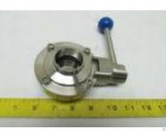 Leak Proof Sanitary Butterfly Valves Corrosion Resistance 4 Position Pull Handle