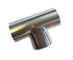 Durable Stainless Steel Sanitary Fittings 1 Inch Equal Tee Pipe Fitting Asme Bpe