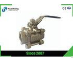Ss316 Bsp Threaded Flow Control Stainless Steel Ball Valve 3pc