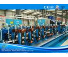 Friction Saw Precision Tube Mill Galvanised Coil Automatic Control 80m Min Running
