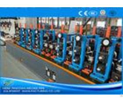 Friction Saw Cutting Ss Tube Mill Machine Worm Gearing Customized Heavy Duty