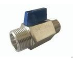 Mini Ball Valve Chrome Plated Pn63 Male Thread Stainless Steel Material
