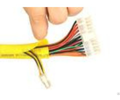 Yellow Color Self Wrapping Split Braided Sleeving For Electrical Wires