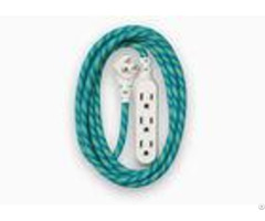 Office Home Green Cotton Braided Sleeving Protecting Wiring Harness