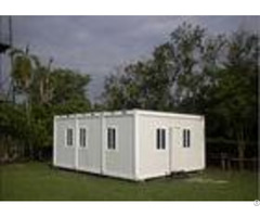 Multifunctional Flat Pack Container House White Color 6000mm 2438mm 2891mm