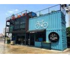 Blue Color Commercial Metal Building Kits Flexible Assembly For Coffee Shop Cafe