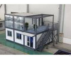 Gray Residential Prefab Container House Comfortable 6000mm 2438mm 2891mm